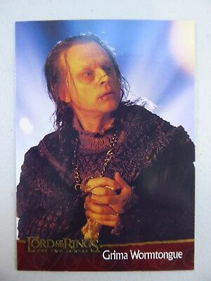 TOPPS Lord of the Rings: The Two Towers - Trading Card #8 GRIMA WORMTONGUE