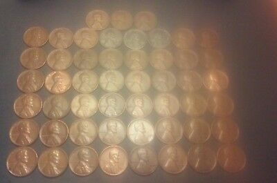 Lincoln Wheat Penny Lot - 1941-1958 P,D,S Complete set 51 coins -see photos #16