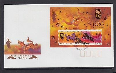 CHRISTMAS IS  2006  Year of the DOG  MINISHEET  on FDC.