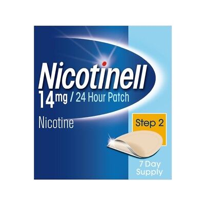 Nicotinell Stop Smoking Aid 24 hour 7 days Nicotine Patches, 14 mg, Step 2