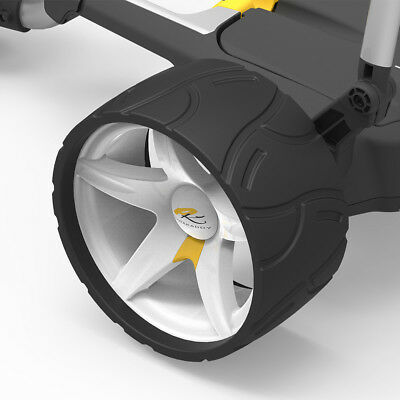 PowaKaddy Golf Electric Trolley Wide Wheels - White (Pair)