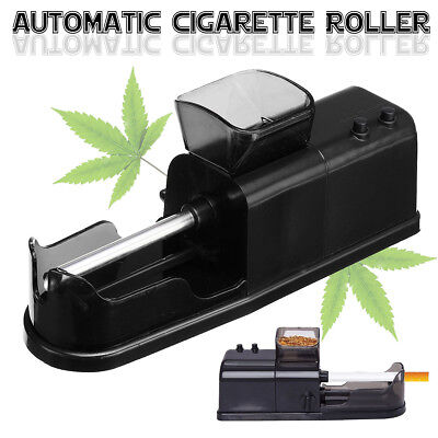 Black Electric Automatic Cigarette Rolling Machine Tobacco Roller Injector Maker