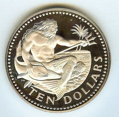 Barbados 1973-Fm Silver 10 Dollars  Perfect Proof Dcam