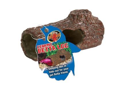 Zoo Med Labs Betta Ceramic Log Small Natural Looking Sinking Shelter Dwell Fish