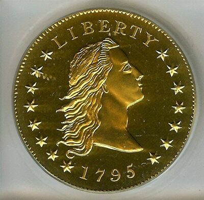 1795 (2004) Flowing Hair Golden Alloy Pattern Dollar  Icg Pr68 Limited Edition!
