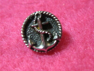 Vintage Button: Anchor, metalized plastic