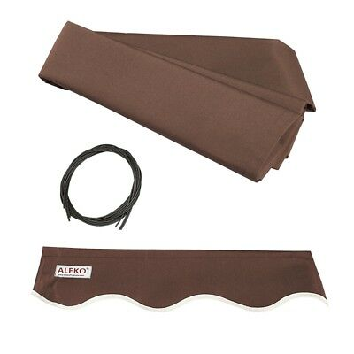 ALEKO Fabric Replacement For 10 x 8 Ft Retractable Brown Color Awning