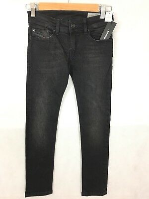 Diesel Kid Boys Sleenker Slim Skinny Jeans - Black - 8 Years - RRP £74 - New