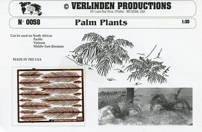 Verlinden Productions 1:35 Palm Plants PE Diorama Accessory #0058