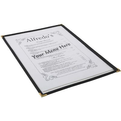 American Style Clear Menu Cover Holder A5 2 Sided Restaurant Cafe