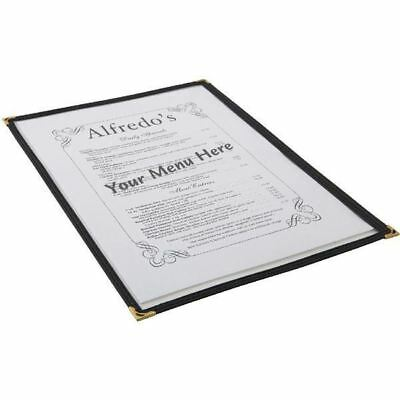 American Style Clear Menu Cover Holder A4 2 Sided Restaurant Cafe
