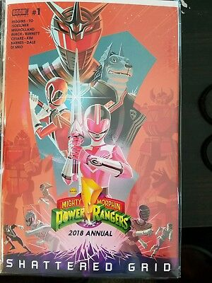 MIGHTY MORPHIN POWER RANGERS 2018 ANNUAL #1 SOLD OUT BOOM COMIC BOOK 2018 Hot!