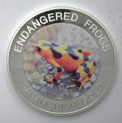 Malawi 2010 10 Kwacha Endangered Frogs - Panamanian Gold - Perfect Proof Dcam