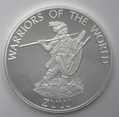 Congo Dem. Rep. 2010 10F Warriors Of The World - Zulu - Perfect Proof Dcam