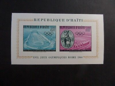 Haiti 1960 Olympic Games Rose MS715 IMPERF  MS MNH UM unmounted mint