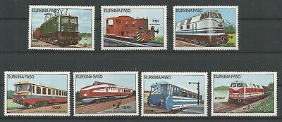 Burkina Faso 1985 656-58 + PA 294-97 ** Locomotives Trains