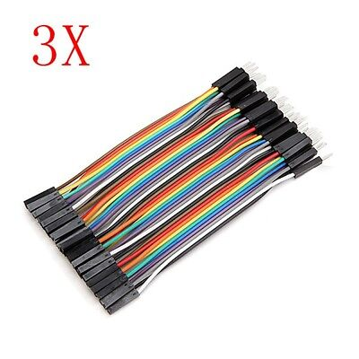 120pcs 10cm Male To Female Jumper Cable Dupont Wire For Arduino