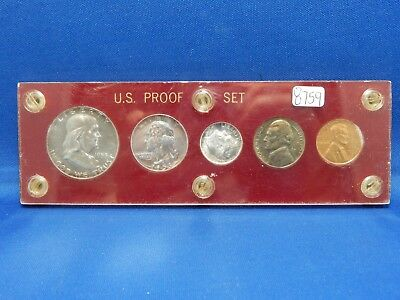 1953 US Mint Silver Proof Set in Plastic Holder