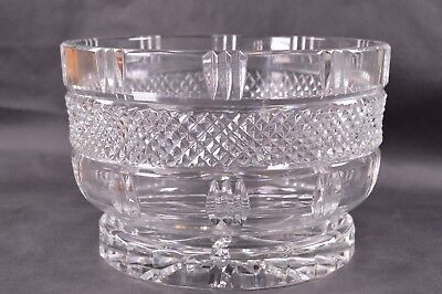 Stunning Heavy Lead Cut Glass Crystal Deep Tall Trifle Fruit Bowl 2.86kg