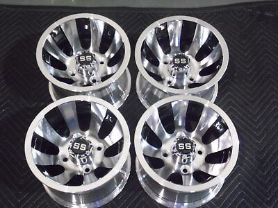 "Club Car 10"" Golf Cart Cyclone Aluminum  Wheels / Rims (Set Of 4) 10Ar12 6C"