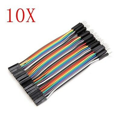 400pcs 10cm Male To Female Jumper Cable Dupont Wire For Arduino