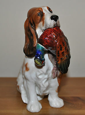 Royal Doulton Springer Spaniel Dog With Pheasant  Bone China 1028