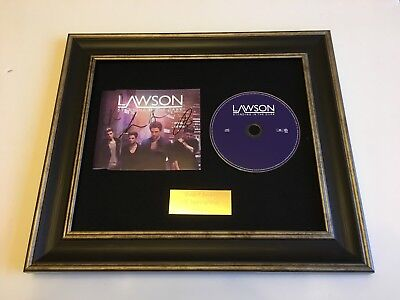 Signed/Autographed Lawson - Standing In The Dark Framed Cd Presentation