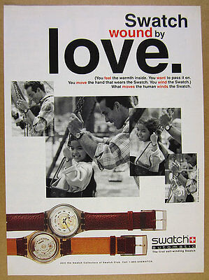 1992 Swatch Watch AUTOMATIC Self-Winding 2 models photo vintage print Ad