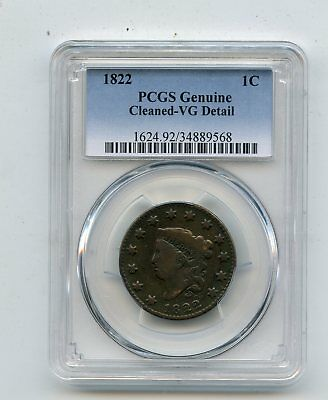 1822 Liberty Head Large Cent (VG) PCGS READ/LOOK!!