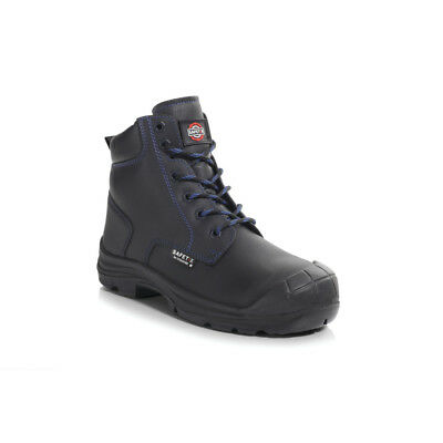 Perf Pb252C Leo Black Derby Safety Boots - Size 10