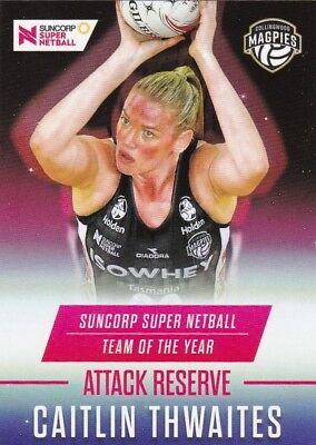 Netball Card Collingwood Magpies - Team of the Year Card No.08 Caitlin Thwaites