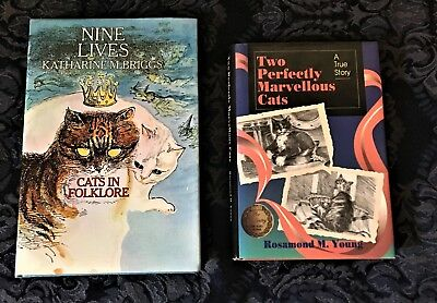 2 Very Nice Books About Cats ~  Folklore, World War 2 Bravery ~ Hb/dj