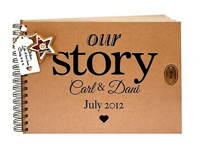 Our Story, Scrapbook, Photo Album, Memory Book, Personalised Cover, A4, A5