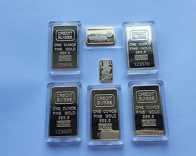 1 ounce24k gold plated bars .5 of...