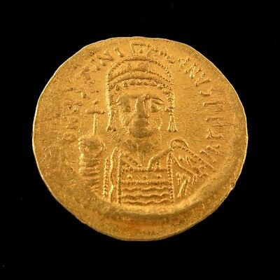 Byzantine Justinian I Gold Solidus Coin