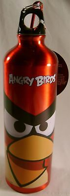 Angry Bird Aluminum Sport Water Bottle Red 28 Oz Carabiner Canteen Belt Loop NEW