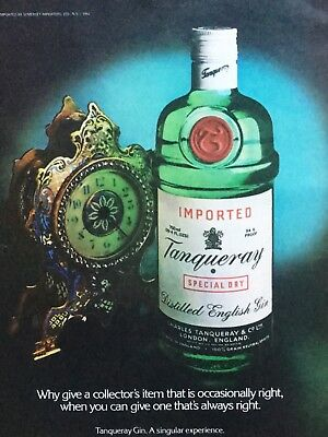 1981 Why Give A Collectors Item That Is Occasionally Right Tanqueray Gin Vtg Ad