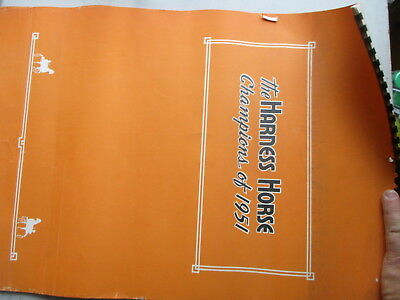 The Harness Horse - Champions of 1951 - Large 12-Month Calendar for 1952