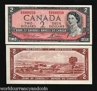 Canada 2 Dollar P76 D 1954 Young Queen Unc Lawson/bouey Sign Currency Money Note
