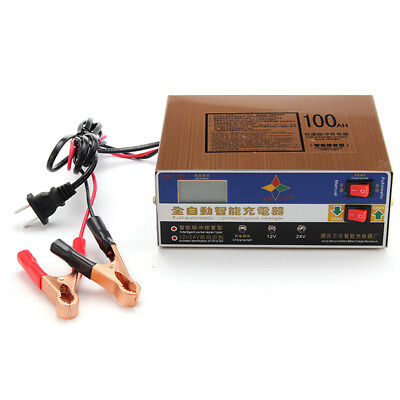 12V 10A 140W Smart Fast Battery Charger For Car Motorcycle LED Display Stainless