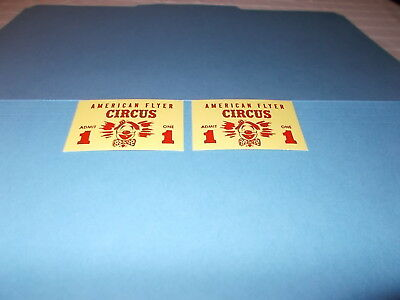 New Item! Repro American Flyer 5002 Circus Tickets For Circus Set