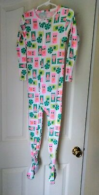 Girls 4t footed pajamas neon piggy summer fun