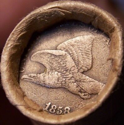 1858 Fl Eagle/1903 Indian End Coins Of Mixed Antique Old Roll As Shown #9122