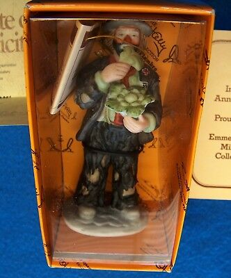 """F023 Emmett Kelly Jr Miniature Collection 10012 Figurine""""Eating Cabbage"""" COA New"""