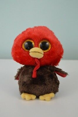 8be2c057210 TY Beanie Boos Feather Turkey Plush Stuffed Animal Toy Big Sparkle Eyes Red  5.5