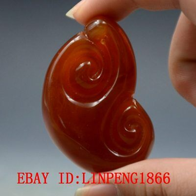 23.8g 100% Natural Baltic Amber Stone Hand-carved Ruyi Pendant L40