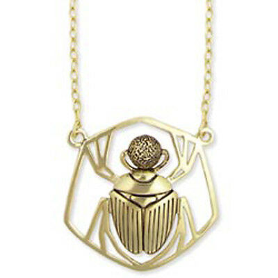 Egyptian Scarab Dung Beetle with Dung Ball Necklace Pendant