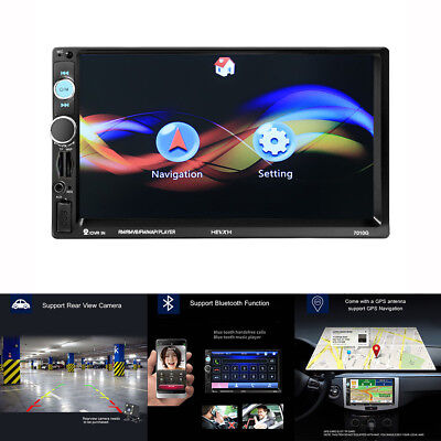 "7"" Double 2DIN Touch Car Bluetooth MP5 Player Stereo FM Radio USB AUX TF GPS"