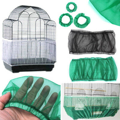 Airy Fabric Soft Cleaning Seed Cover Mesh Nylon Cage Cover Bird Cage Cover Pet