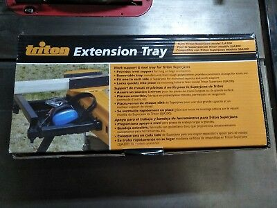 Triton Superjaws Extension Tray In Original Box With Instructions.